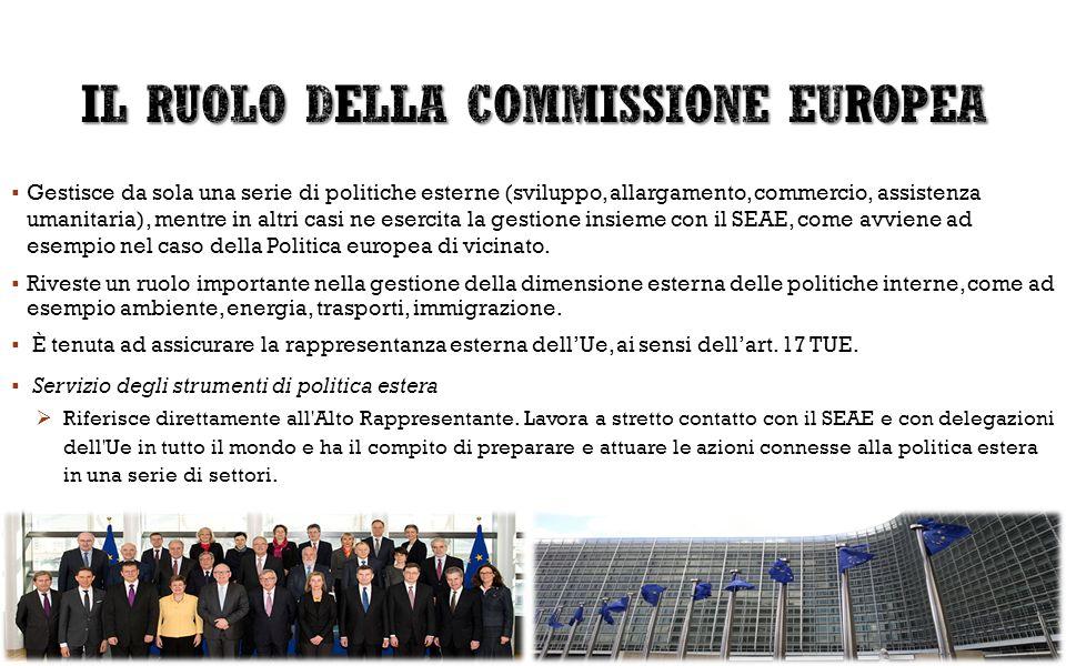 IL RUOLO DELLA COMMISSIONE EUROPEA