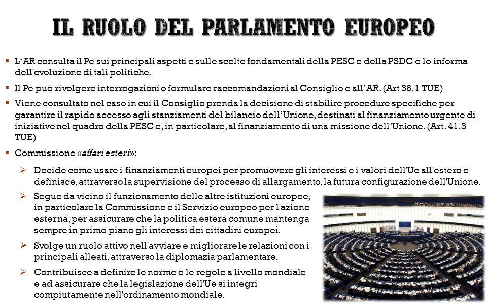 IL RUOLO DEL PARLAMENTO EUROPEO