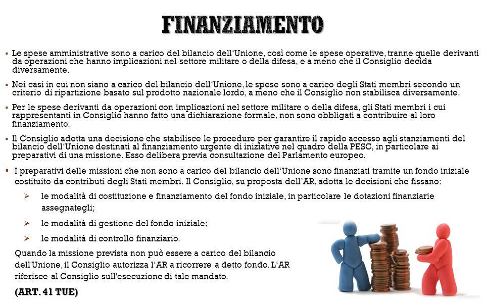 FINANZIAMENTO (ART. 41 TUE)