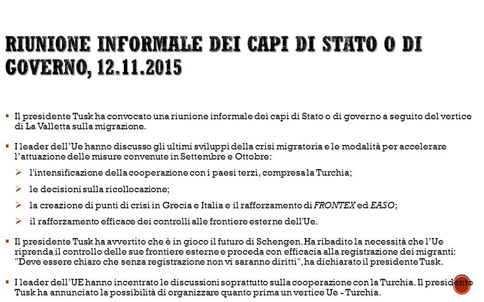 Riunione informale dei capi di Stato o di governo, 12.11.2015