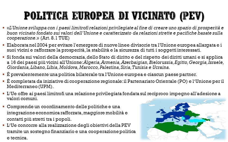 POLITICA EUROPEA DI VICINATO (PEV)