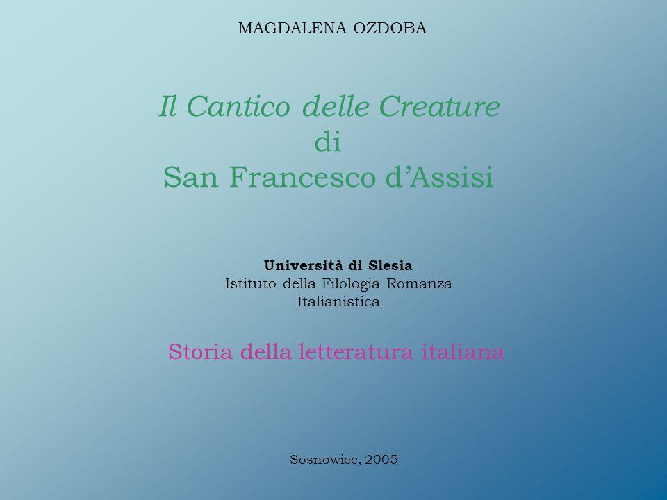 Favorito Il Cantico delle Creature di San Francesco d'Assisi - ppt video  UC48