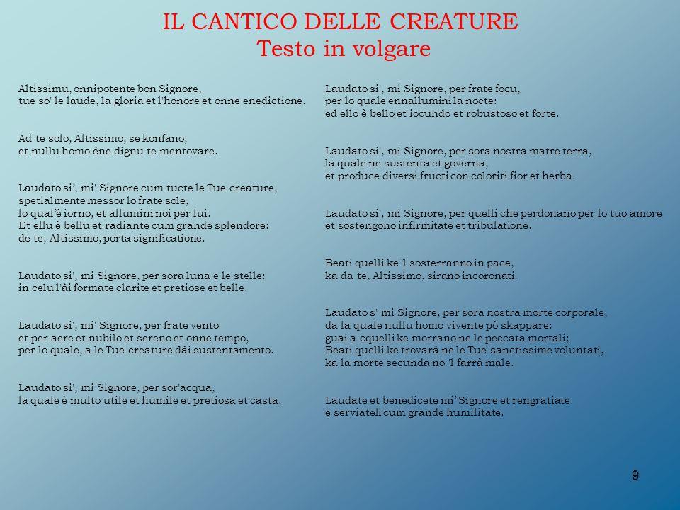 abbastanza Il Cantico delle Creature di San Francesco d'Assisi - ppt video  IF85