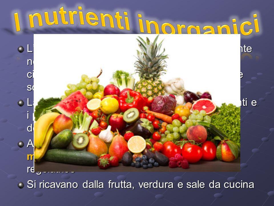 I nutrienti inorganici