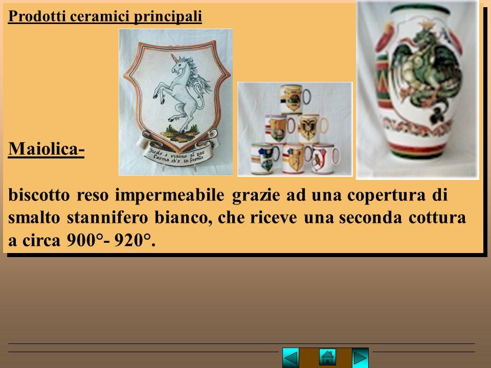 Lucio TROISE Prodotti ceramici principali. Maiolica-