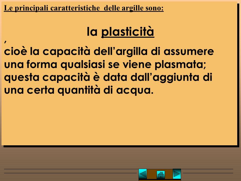 Lucio TROISE Le principali caratteristiche delle argille sono: ,