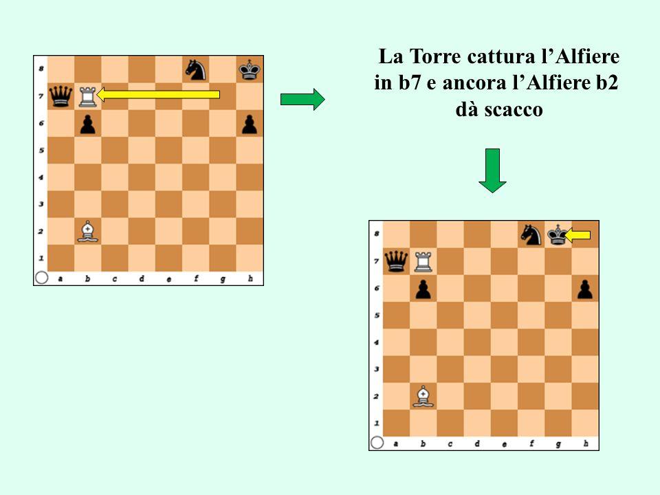 La Torre cattura l'Alfiere in b7 e ancora l'Alfiere b2