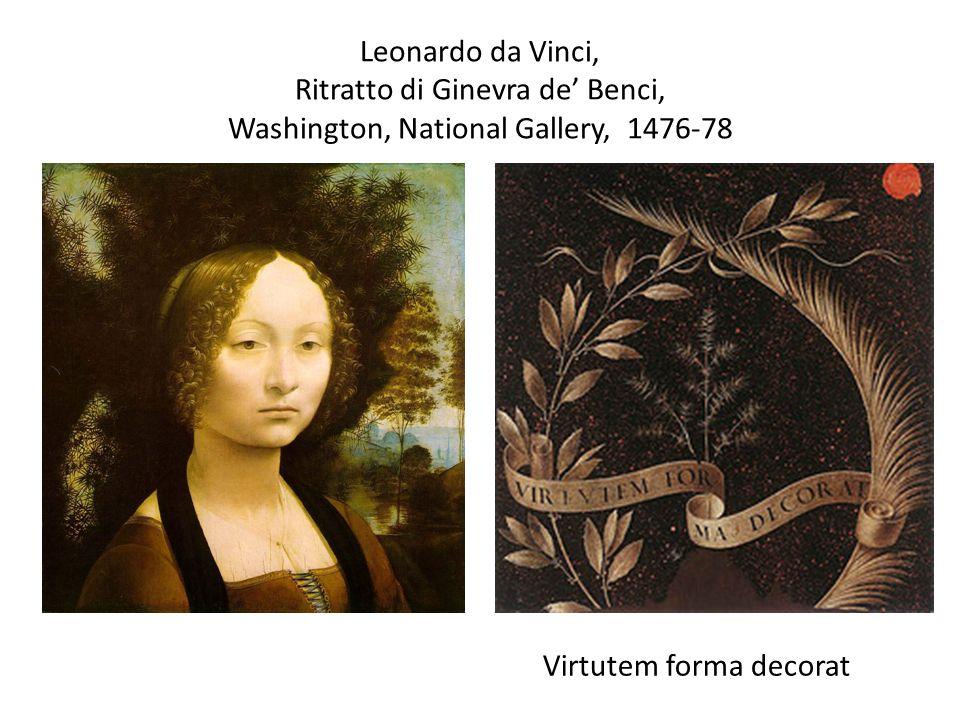 Leonardo da Vinci, Ritratto di Ginevra de' Benci, Washington, National Gallery, 1476-78