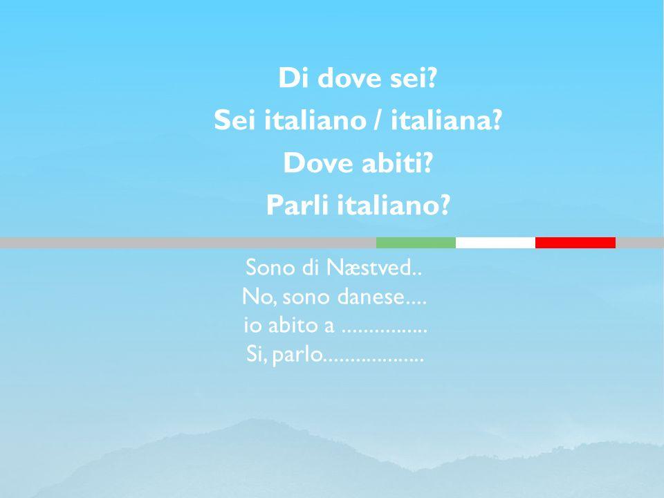Sei italiano / italiana