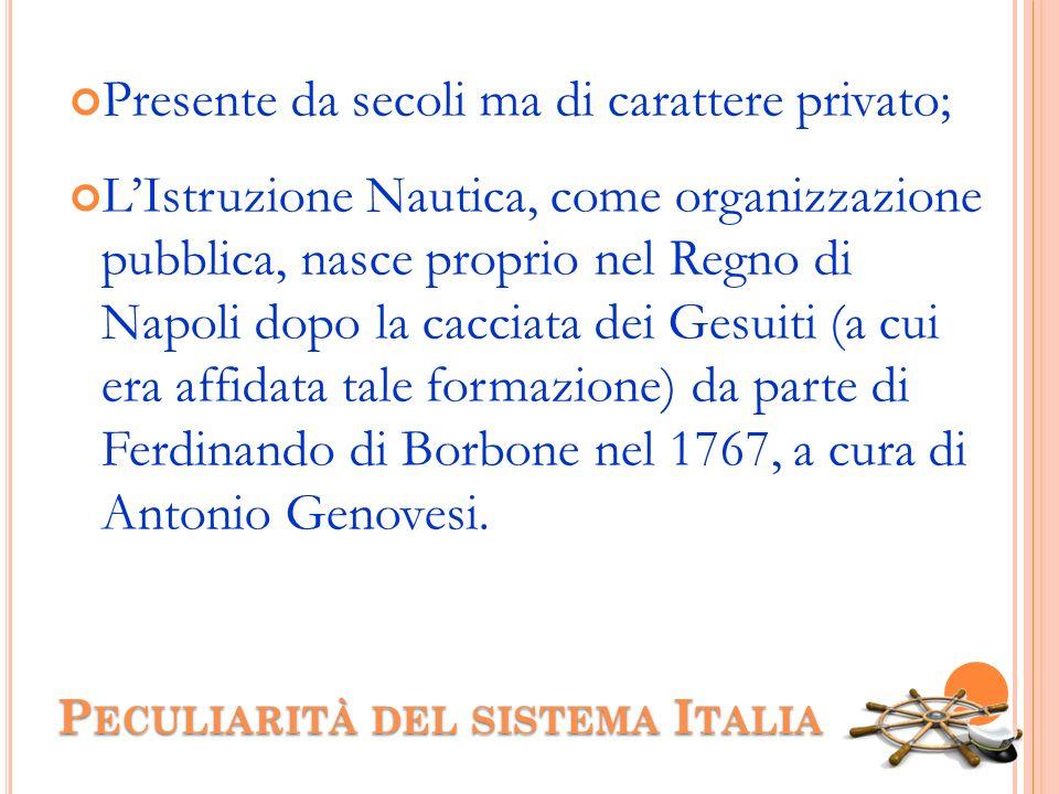 Peculiarità del sistema Italia