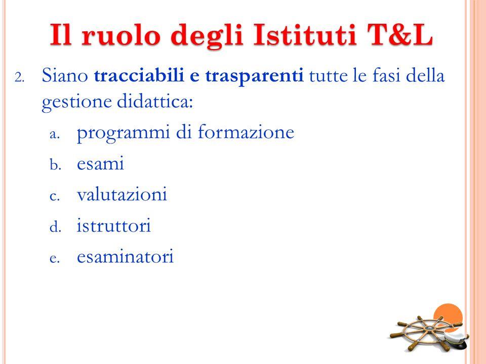 Il ruolo degli Istituti T&L