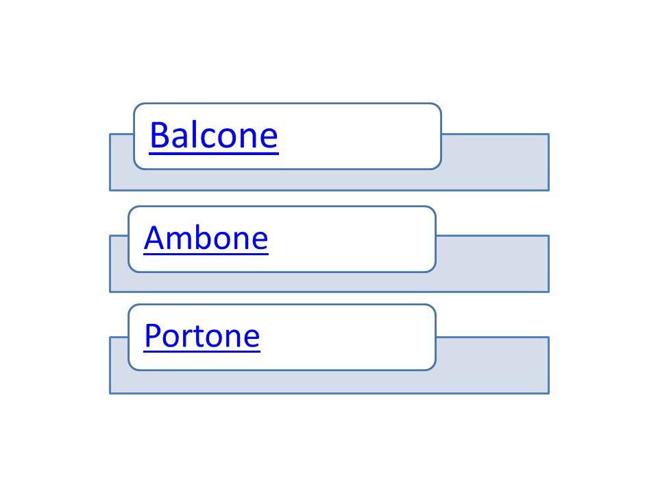 Balcone Ambone Portone