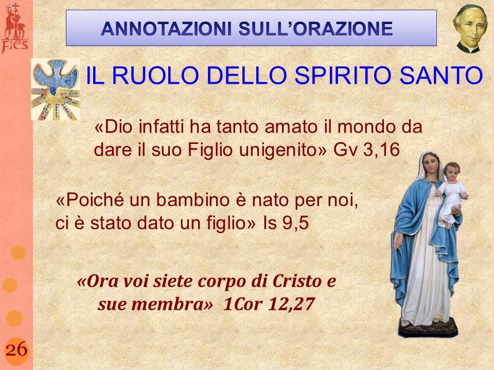 IL RUOLO DELLO SPIRITO SANTO