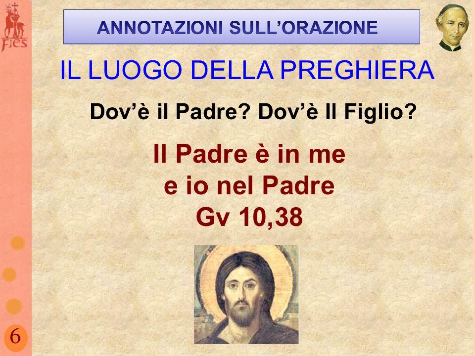 Il Padre è in me e io nel Padre Gv 10,38