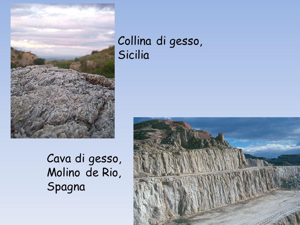 Collina di gesso, Sicilia