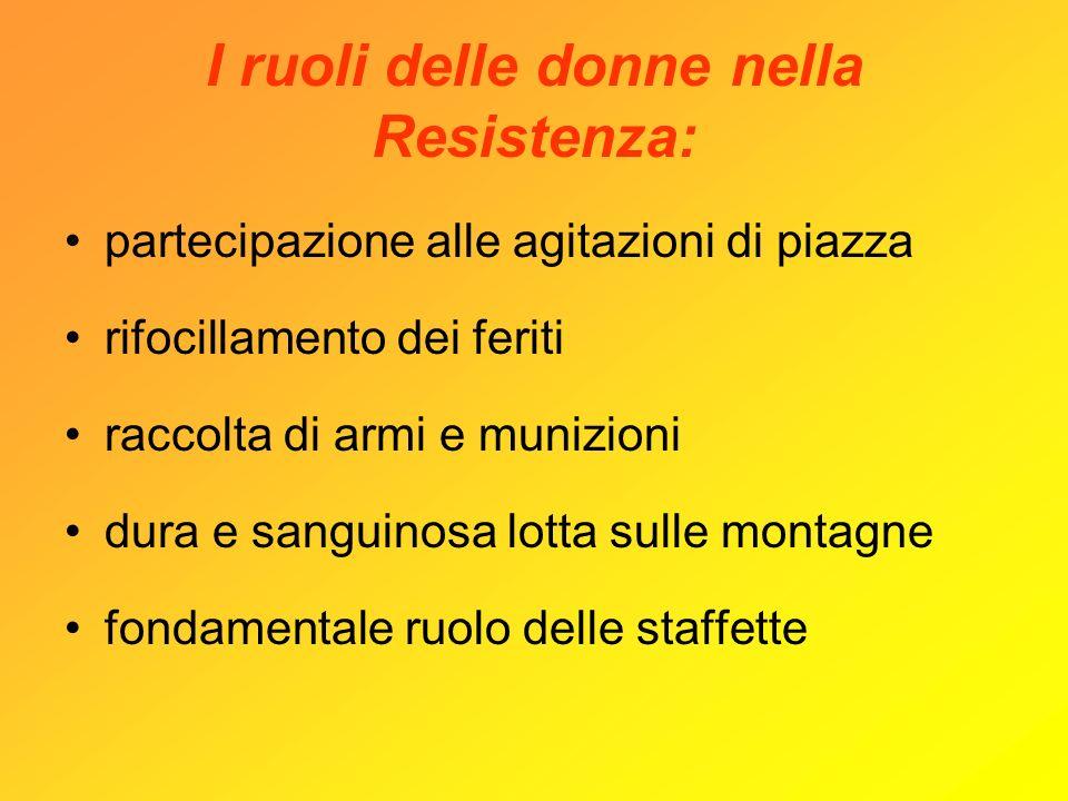 I ruoli delle donne nella Resistenza: