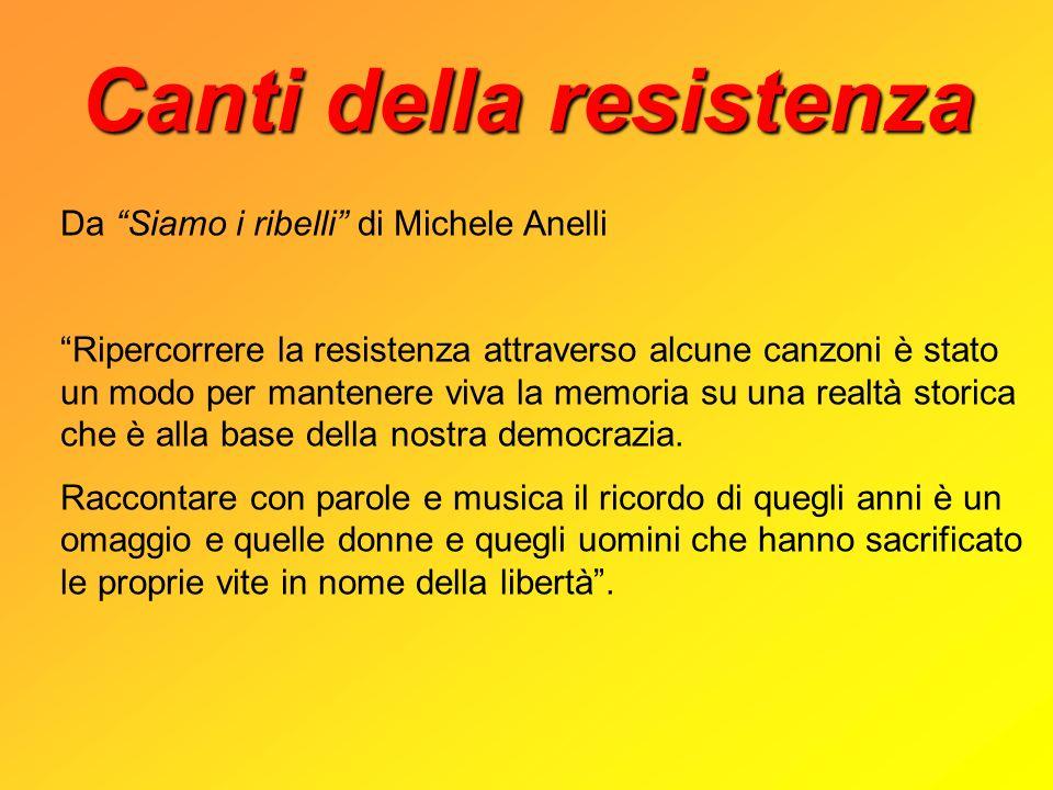 Canti della resistenza