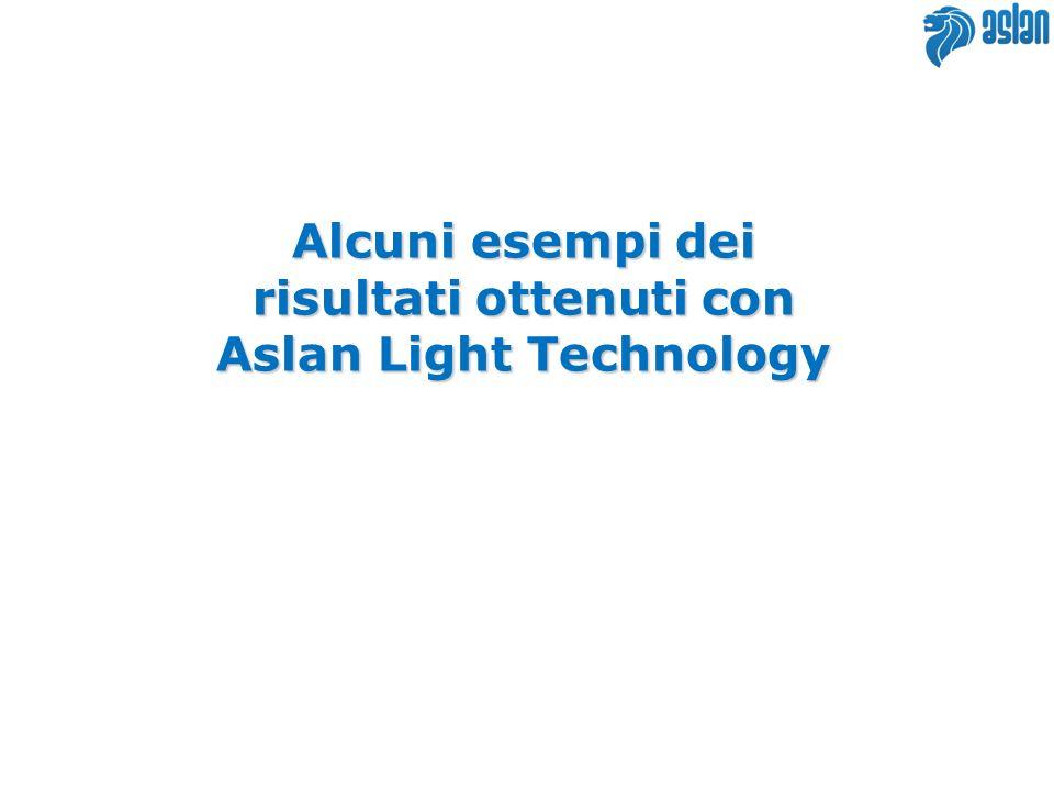 risultati ottenuti con Aslan Light Technology