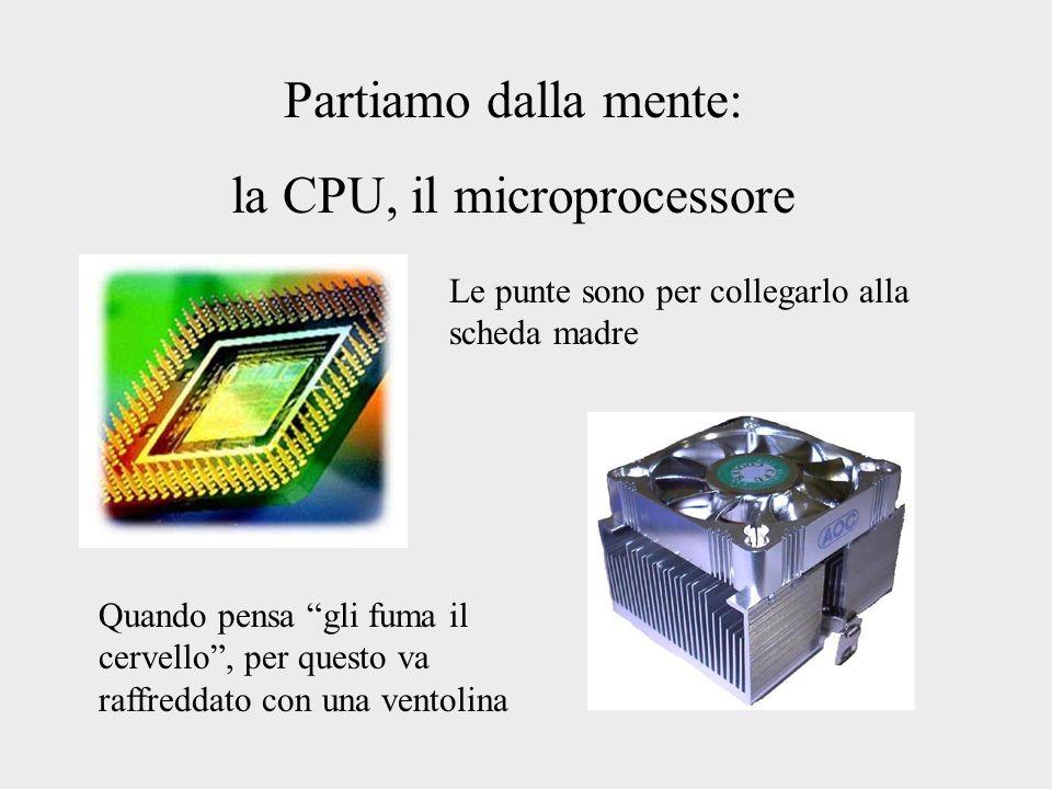 la CPU, il microprocessore