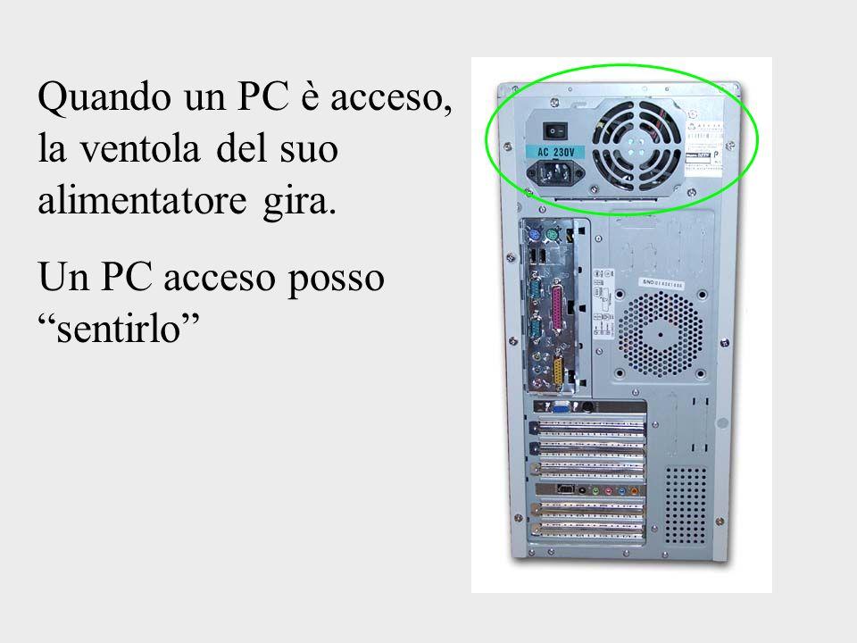 Quando un PC è acceso, la ventola del suo alimentatore gira.