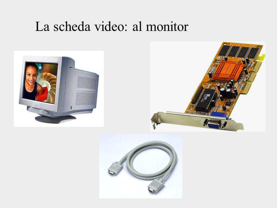 La scheda video: al monitor