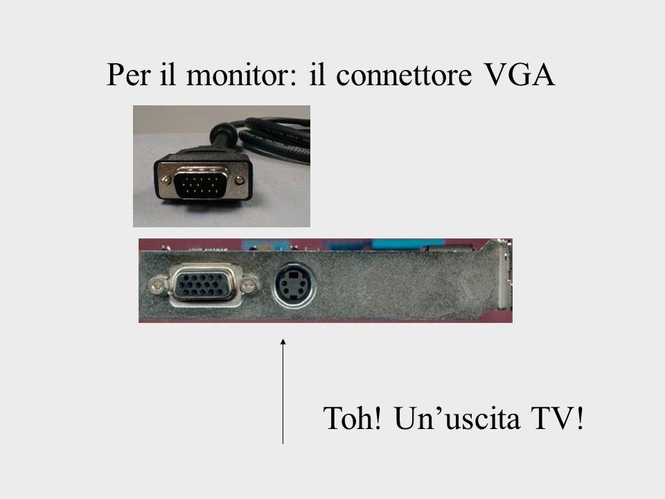 Per il monitor: il connettore VGA