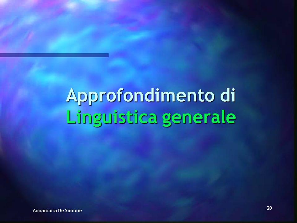 Approfondimento di Linguistica generale