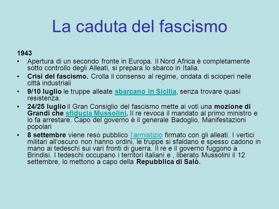 La caduta del fascismo 1943.
