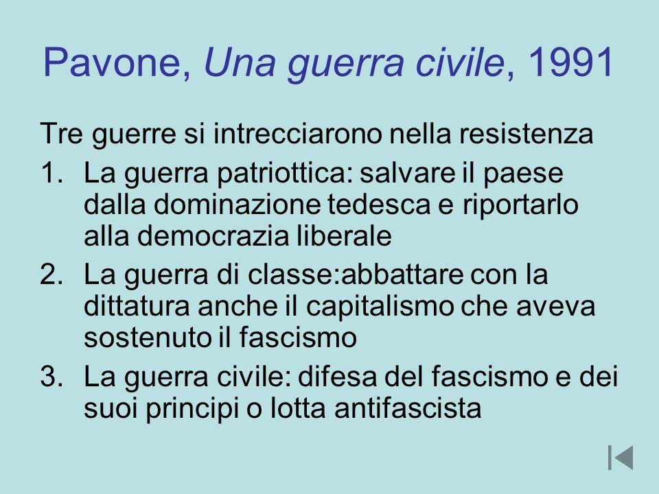 Pavone, Una guerra civile, 1991