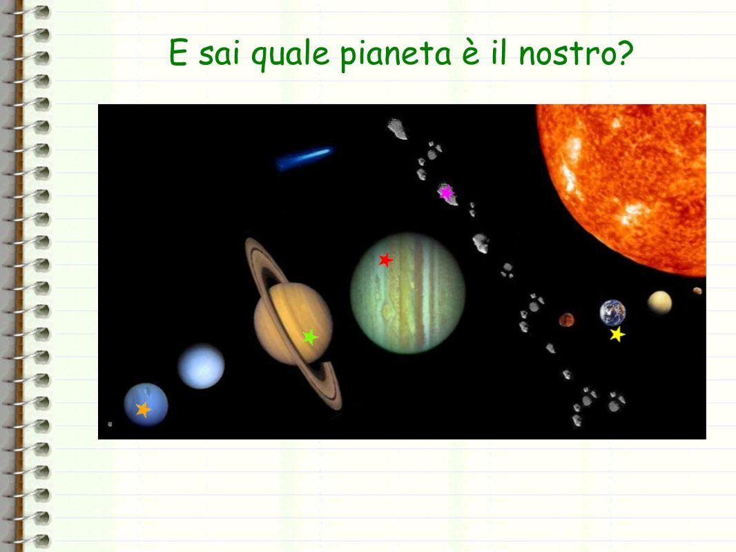 E sai quale pianeta è il nostro