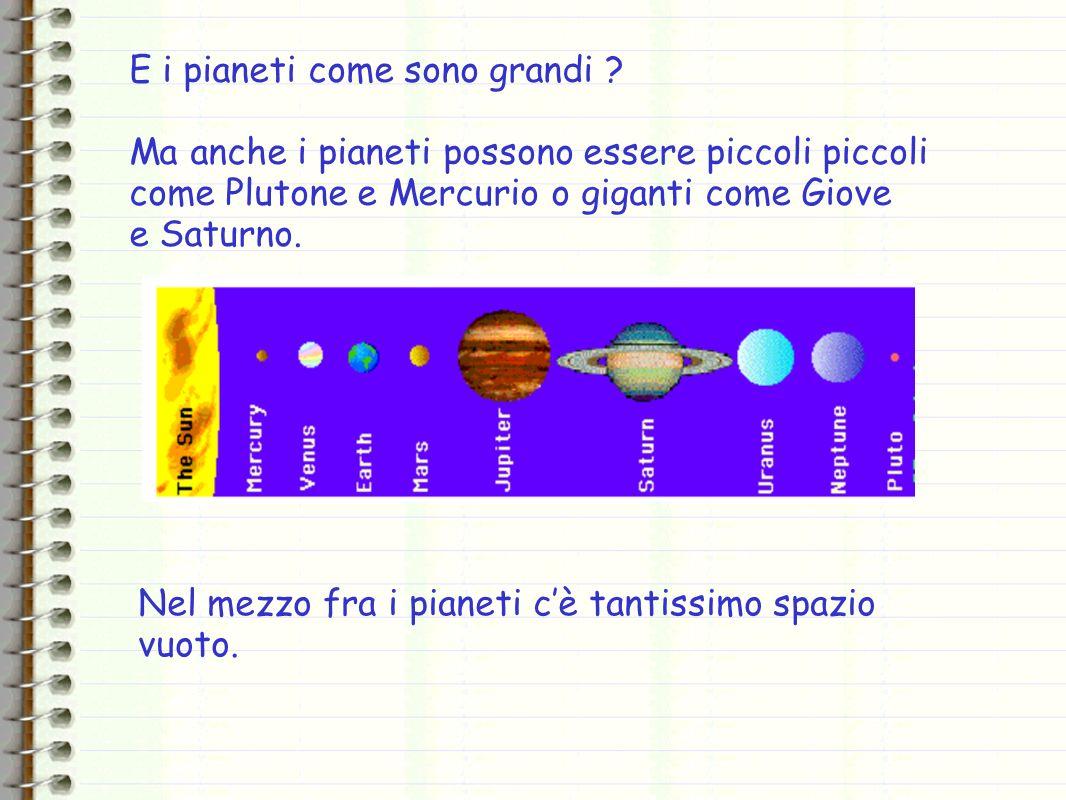 E i pianeti come sono grandi