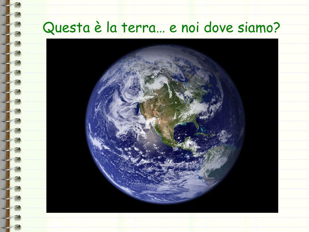 Questa è la terra… e noi dove siamo