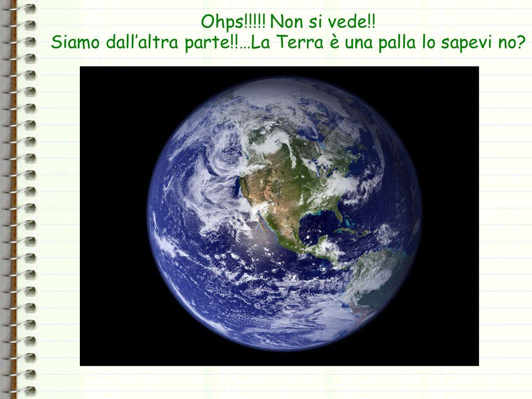 Siamo dall'altra parte!!…La Terra è una palla lo sapevi no