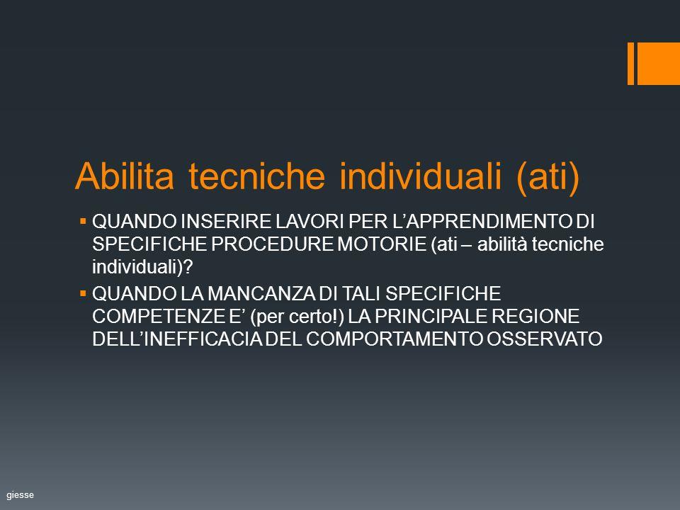 Abilita tecniche individuali (ati)