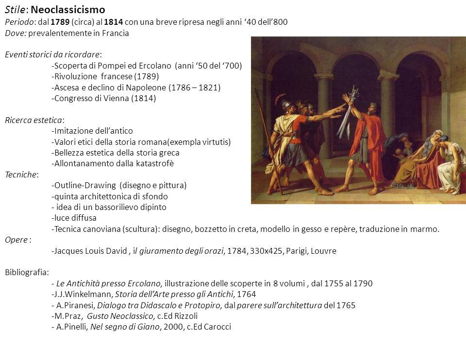 Stile: Neoclassicismo