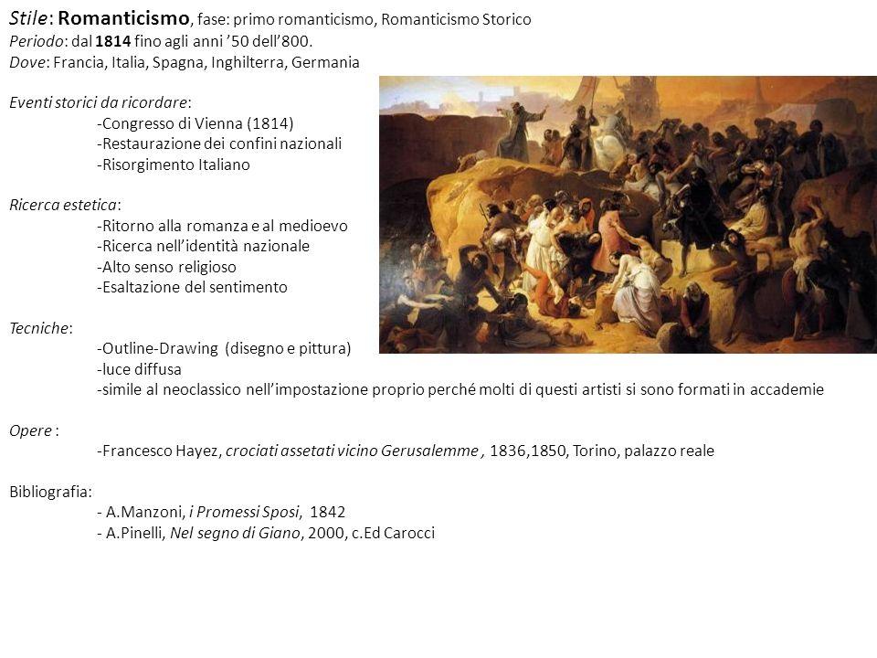 Stile: Romanticismo, fase: primo romanticismo, Romanticismo Storico