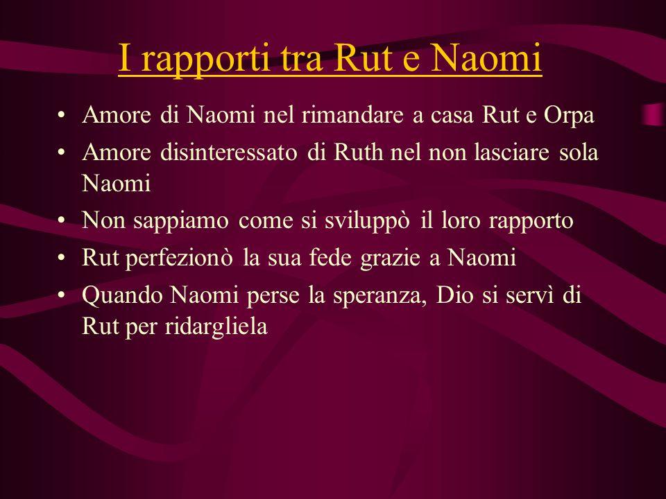 I rapporti tra Rut e Naomi
