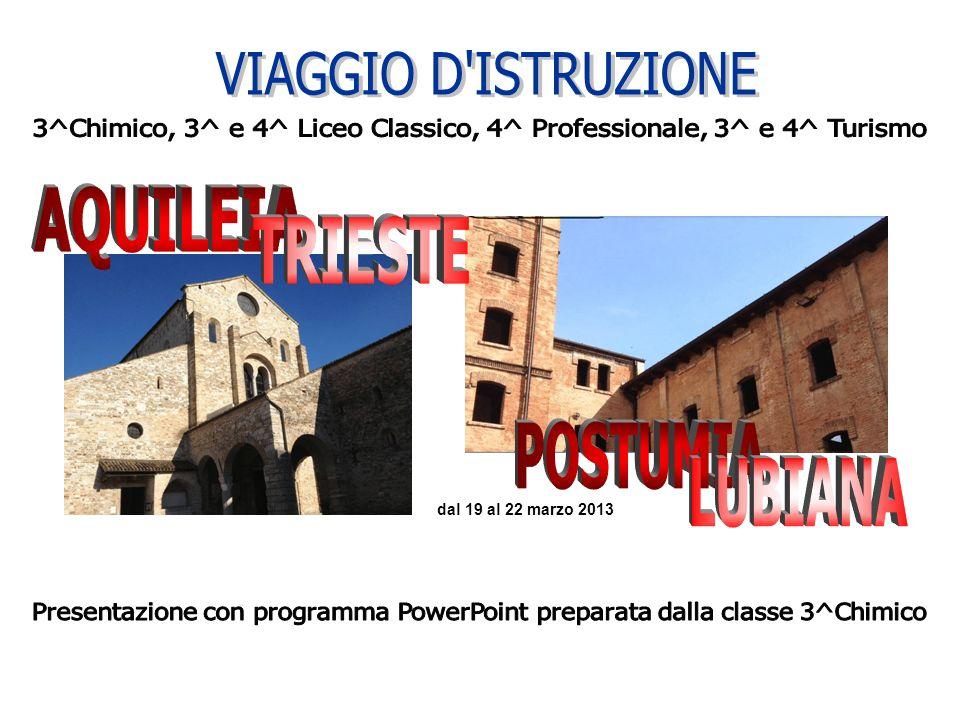 3^Chimico, 3^ e 4^ Liceo Classico, 4^ Professionale, 3^ e 4^ Turismo