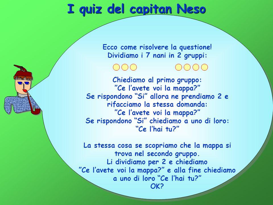 I quiz del capitan Neso Ecco come risolvere la questione!