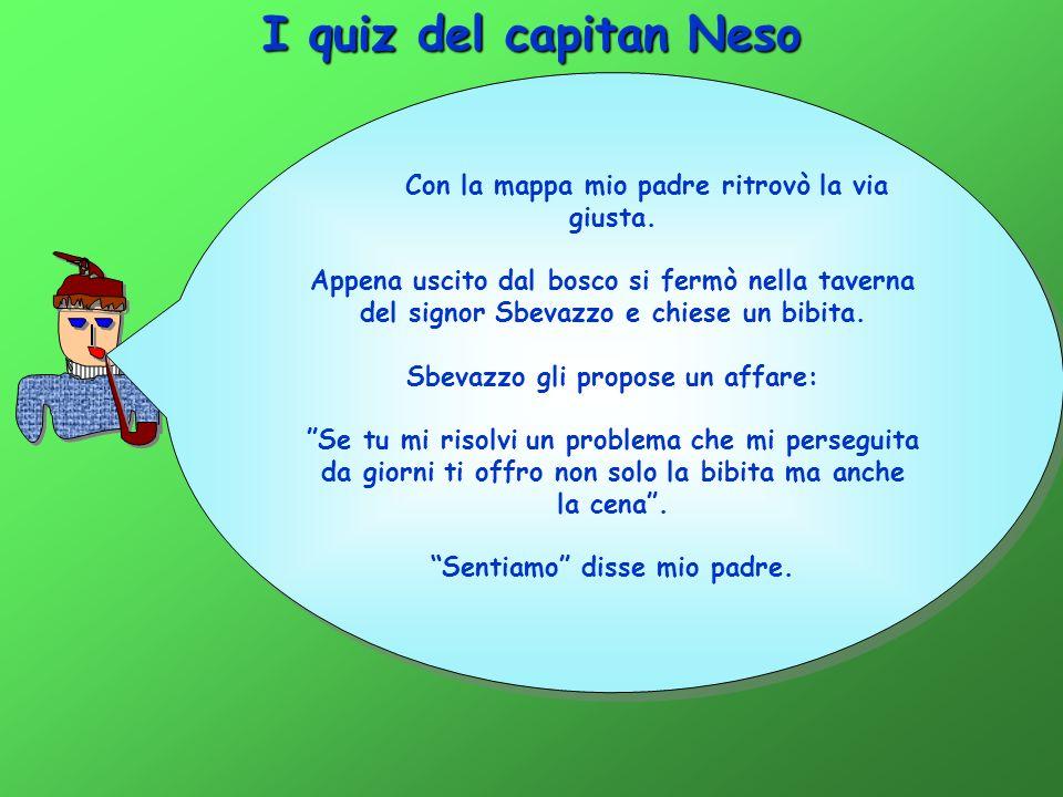 I quiz del capitan Neso Con la mappa mio padre ritrovò la via giusta.