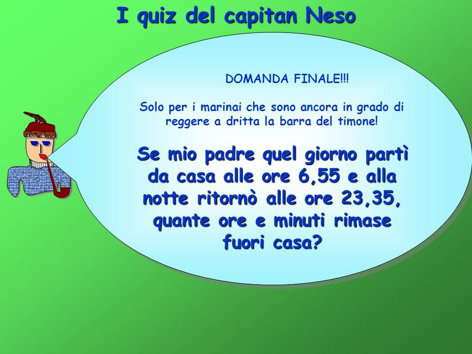 I quiz del capitan Neso DOMANDA FINALE!!! Solo per i marinai che sono ancora in grado di reggere a dritta la barra del timone!