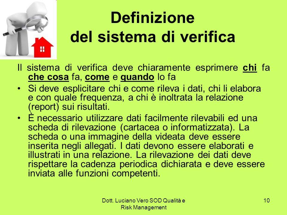 Definizione del sistema di verifica
