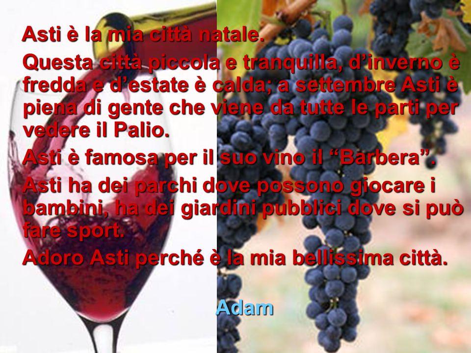 Asti è famosa per il suo vino il Barbera .