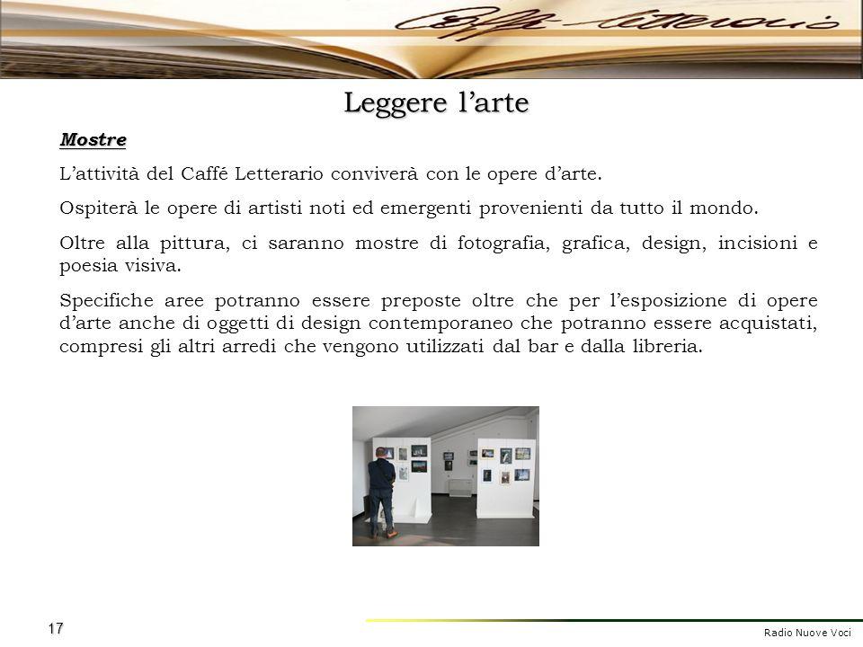 Leggere l'arte Mostre. L'attività del Caffé Letterario conviverà con le opere d'arte.