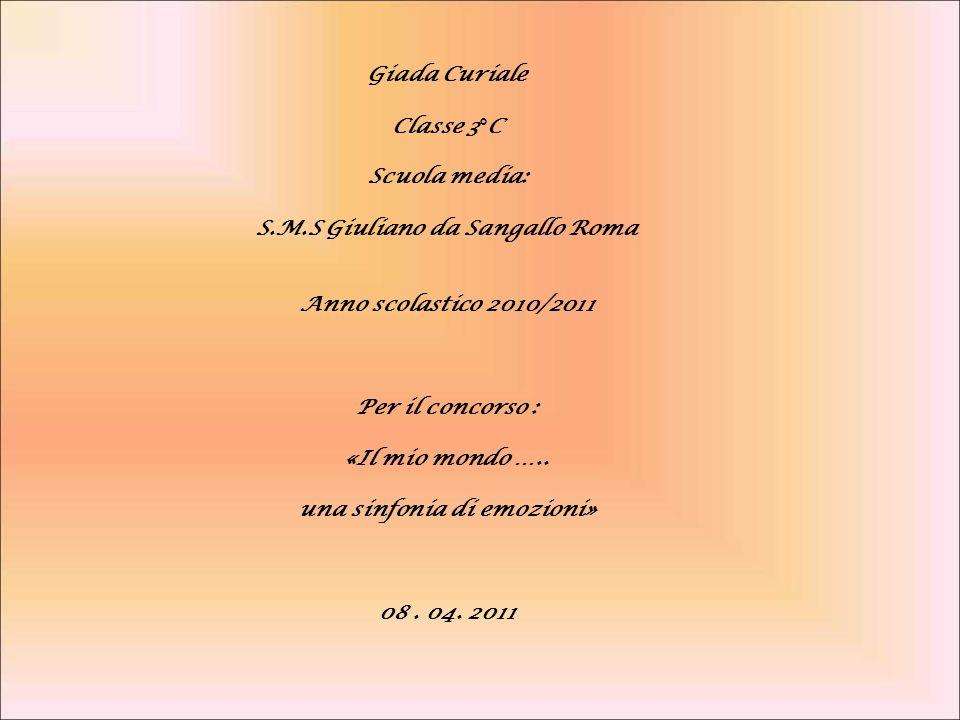 S.M.S Giuliano da Sangallo Roma una sinfonia di emozioni»