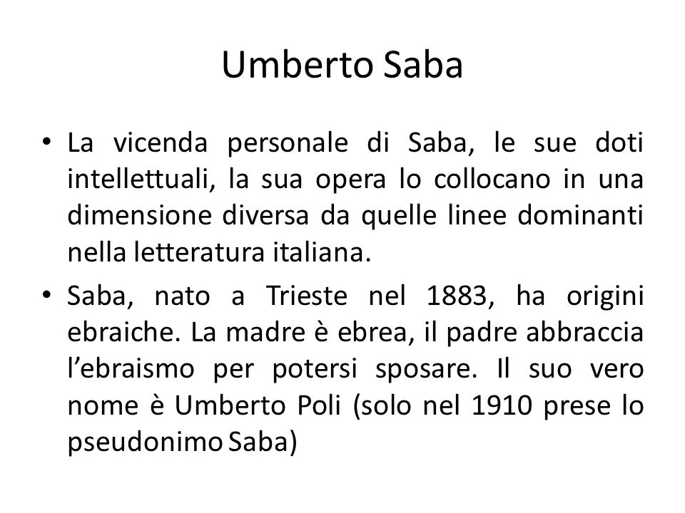 Umberto Saba
