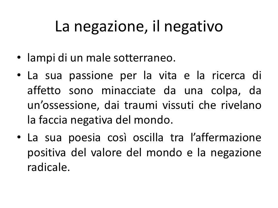 La negazione, il negativo