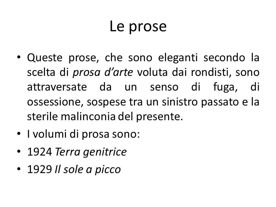 Le prose