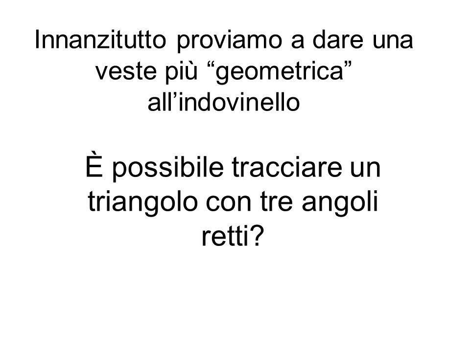 È possibile tracciare un triangolo con tre angoli retti
