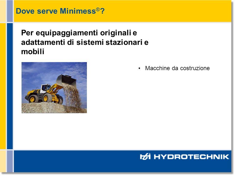Dove serve Minimess®. Per equipaggiamenti originali e adattamenti di sistemi stazionari e mobili.